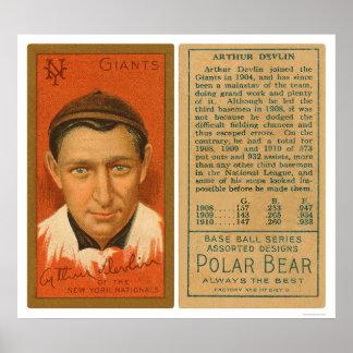 Béisbol 1911 de Devlin Giants del arte Posters