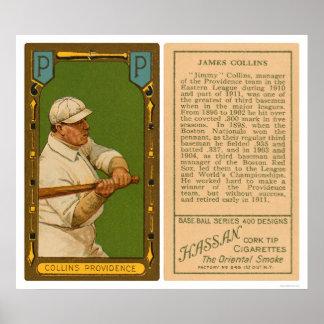 Béisbol 1911 de Jimmy Collins Providence Póster