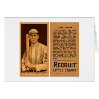 Béisbol 1911 de Juan Collins White Sox Tarjeta De Felicitación