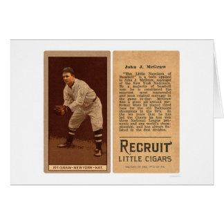 Béisbol 1911 de Juan J McGraw Giants Tarjeta De Felicitación