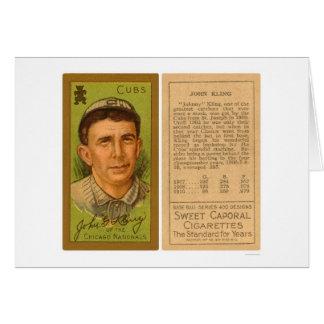 Béisbol 1911 de Juan Kling Cubs Tarjeta De Felicitación