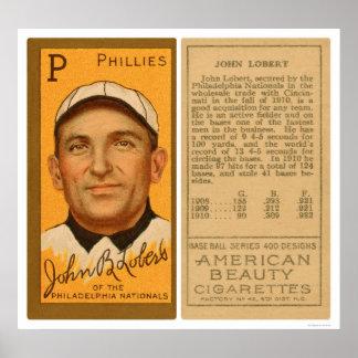 Béisbol 1911 de Juan Lobert Phillies Póster