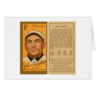 Béisbol 1911 de Juan Lobert Phillies Tarjeta De Felicitación