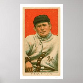 Béisbol 1911 de Juan McGraw Póster