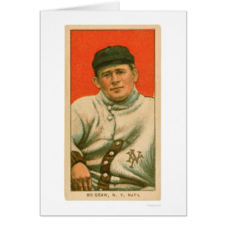 Béisbol 1911 de Juan McGraw Tarjeta De Felicitación