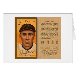 Béisbol 1911 de Juan Titus Phillies Tarjeta De Felicitación