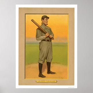 Béisbol 1911 de Lajoie Cleveland de la siesta Impresiones