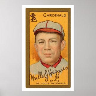 Béisbol 1911 de los cardenales de Miller Huggins Impresiones
