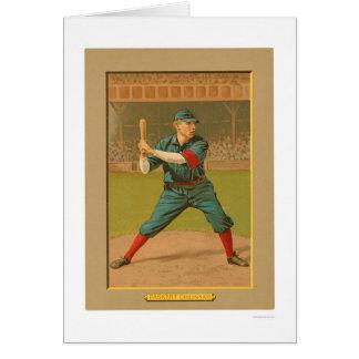 Béisbol 1911 de los rojos de Dode Paskert Tarjeta De Felicitación