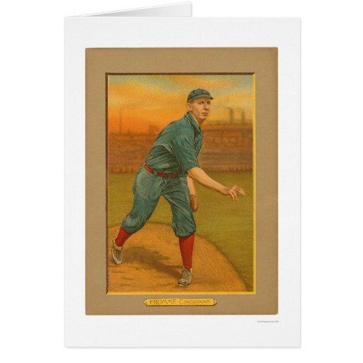 Béisbol 1911 de los rojos de Fromme del arte Tarjeta