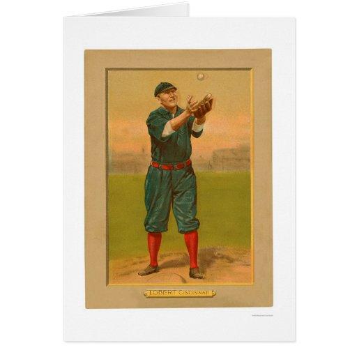 Béisbol 1911 de los rojos de Hans Lobert Tarjetas