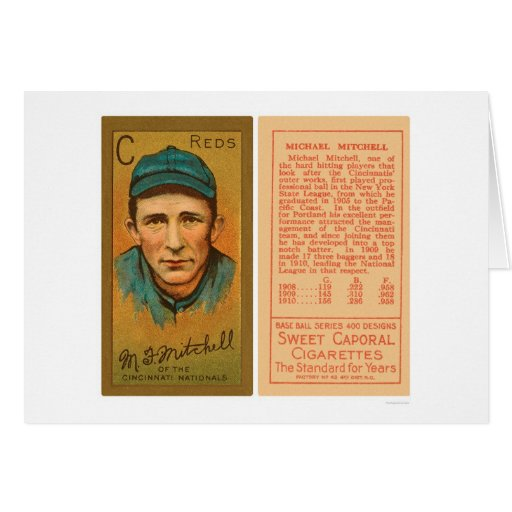 Béisbol 1911 de los rojos de Mike Mitchell Tarjeta