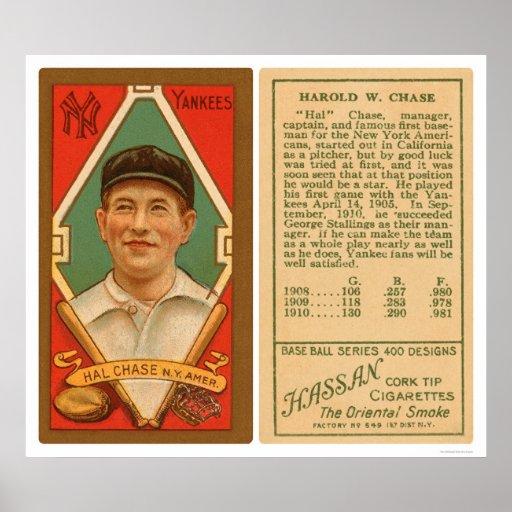 Béisbol 1911 de los yanquis de la caza de Hal Póster