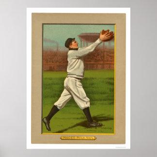 Béisbol 1911 de Magee Phillies del jerez Poster