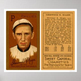 Béisbol 1911 de Magee Phillies del jerez Posters