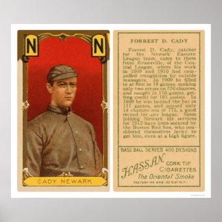 Béisbol 1911 de Newark del carrito del cateto Poster