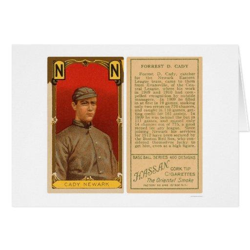 Béisbol 1911 de Newark del carrito del cateto Tarjeta