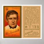 Béisbol 1911 de Otis Crandall Giants Impresiones