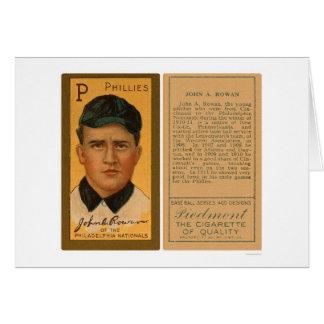 Béisbol 1911 de Phillies del serbal de Juan Tarjeta De Felicitación