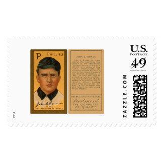 Béisbol 1911 de Phillies del serbal de Juan Timbre Postal