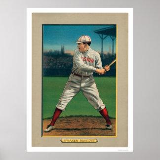 Béisbol 1911 de Red Sox del altavoz de Tris gran Poster