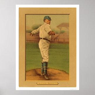 Béisbol 1911 de Rucker Dodgers de la siesta Poster