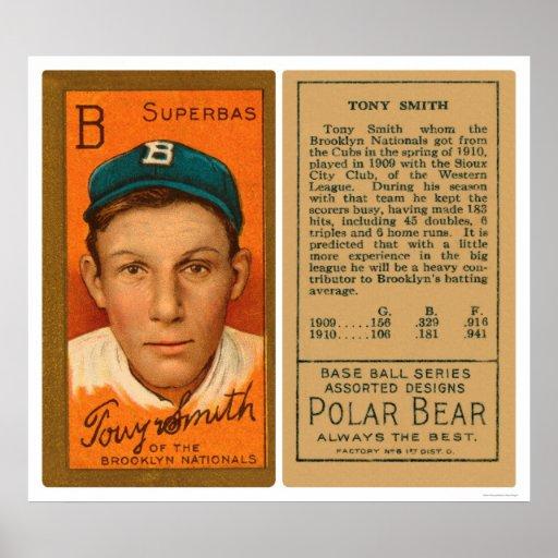 Béisbol 1911 de Tony Smith S Brooklyn Poster