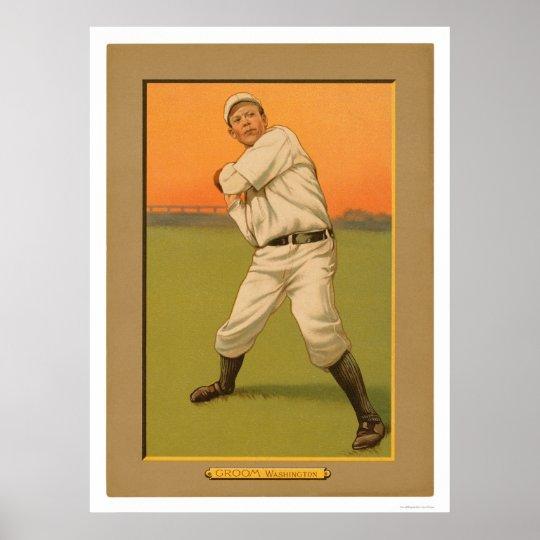 Béisbol 1911 de Washington del novio de Bob Póster