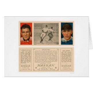 Béisbol 1912 de Doyle y de Merkle Giants Tarjeta De Felicitación