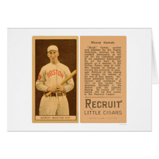Béisbol 1912 de Hank Gowdy Braves Tarjeta