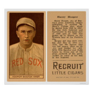 Béisbol 1912 de Harry Hooper Red Sox Poster