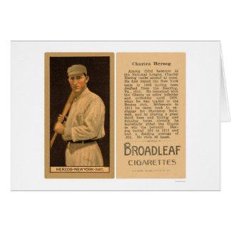 Béisbol 1912 de Herzog Giants del dólar Tarjeta De Felicitación