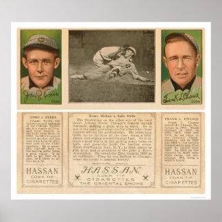 Béisbol 1912 de la ocasión de Evers Posters