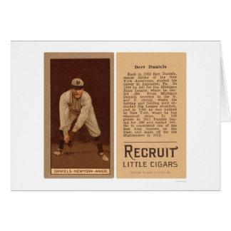 Béisbol 1912 de los yanquis de Bert Daniels Tarjeta De Felicitación