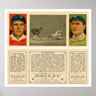 Béisbol 1912 de los yanquis del Cree del chirrido Poster