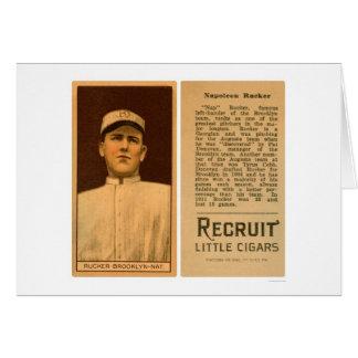 Béisbol 1912 de Napolean Rucker Dodgers Tarjetón