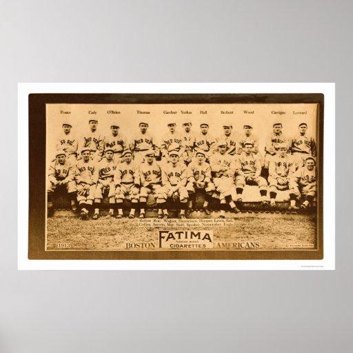 Béisbol 1913 de Boston Red Sox Póster