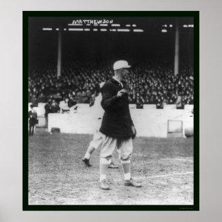 Béisbol 1913 de Christy Mathewson Giants Posters