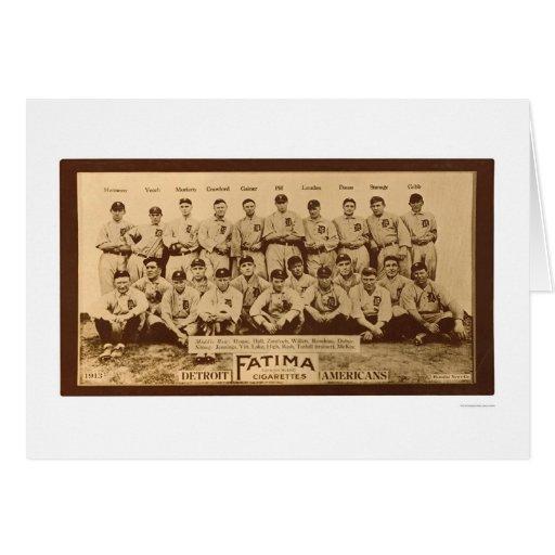 Béisbol 1913 de los Detroit Tigers Tarjeta De Felicitación