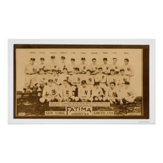 Béisbol 1913 de los New York Yankees Posters