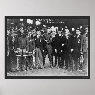 Béisbol 1914 de alcalde Boston Posters