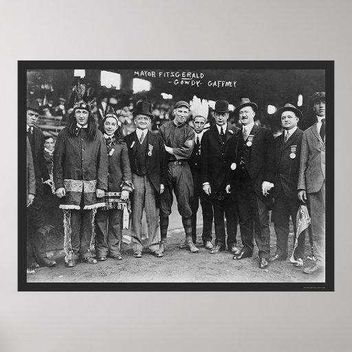 Béisbol 1914 de alcalde Boston Póster