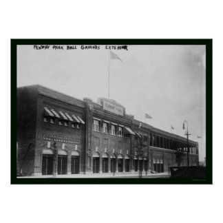 Béisbol 1914 de Fenway Park Boston Poster