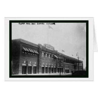 Béisbol 1914 de Fenway Park Boston Tarjeton