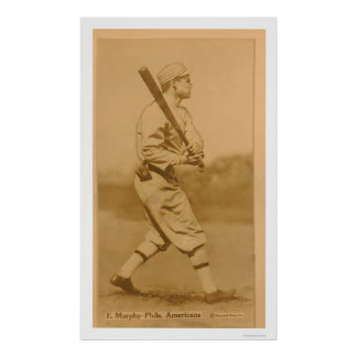 Béisbol 1914 del atletismo de Eddie Murphy Póster
