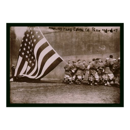 Béisbol 1914 del parque de Ebbets de la bandera Impresiones
