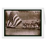 Béisbol 1914 del parque de Ebbets de la bandera Tarjeton
