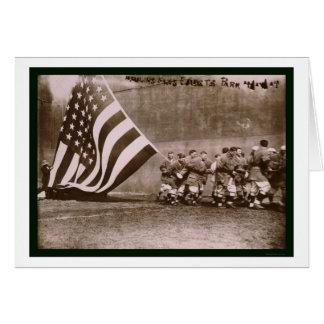 Béisbol 1914 del parque de Ebbets de la bandera Tarjeta De Felicitación
