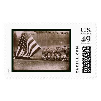 Béisbol 1914 del parque de Ebbets de la bandera Timbre Postal