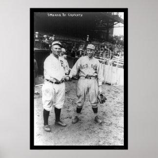 Béisbol 1915 de Red Sox del altavoz de Tris Impresiones